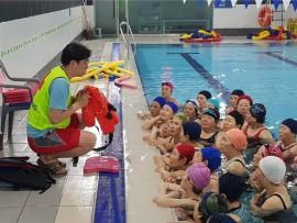 동작구시설관리공단, 지역 어르신 대상 생존수영 응급처치 교육